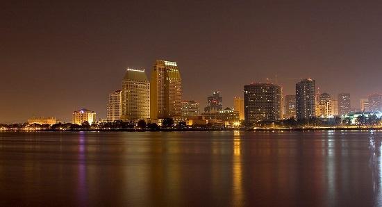 San Diego skyline, California. Photo by Jon Sullivan (http://pdphoto.org/), via Wikimedia Commons
