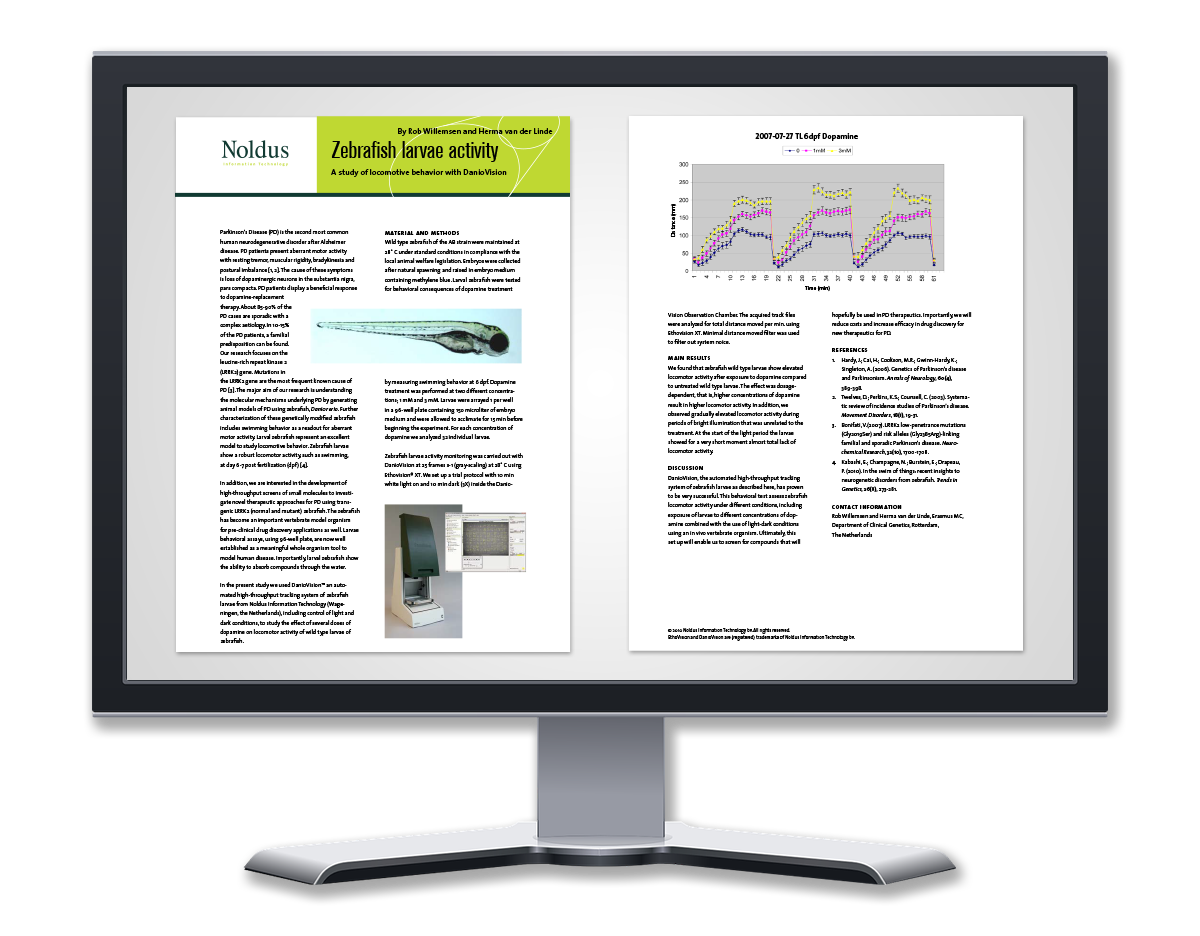 Case study zebrafish larvea activity
